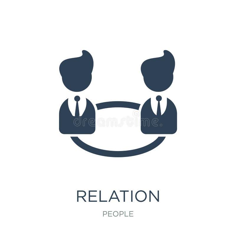 ícone da relação no estilo na moda do projeto ícone da relação isolado no fundo branco plano simples e moderno do ícone do vetor  ilustração do vetor