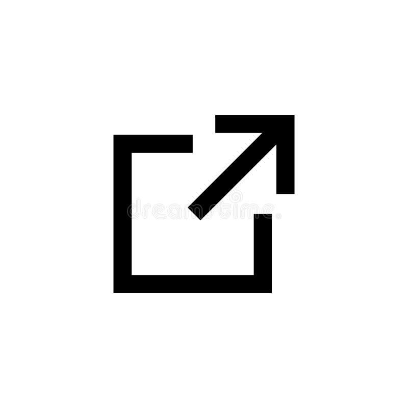 Ícone da relação Símbolo chain do hiperlink Ícone do vetor do símbolo da relação externo Transferência, parte, e para carregar ma ilustração do vetor