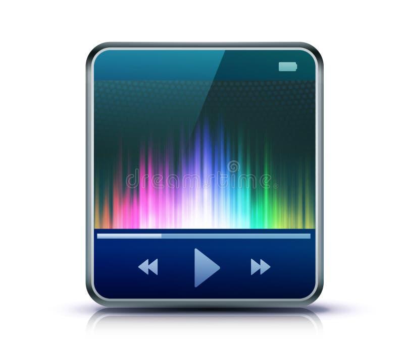 Ícone da reprodutor multimedia ilustração stock