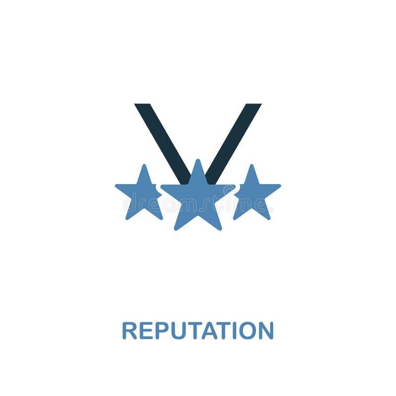 Ícone da reputação Projeto superior de duas cores da coleção dos ícones da gestão Ícone simples perfeito da reputação do pictogra ilustração royalty free