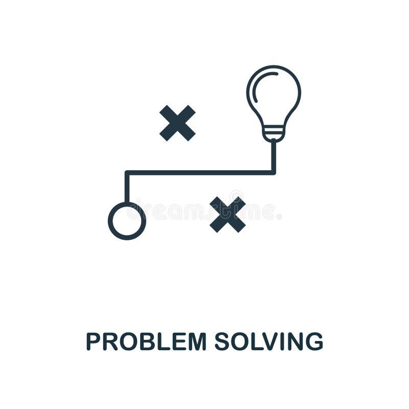 Ícone da resolução de problemas Projeto monocromático do estilo da coleção do ícone da aprendizagem de máquina UI e UX Ícone perf ilustração royalty free