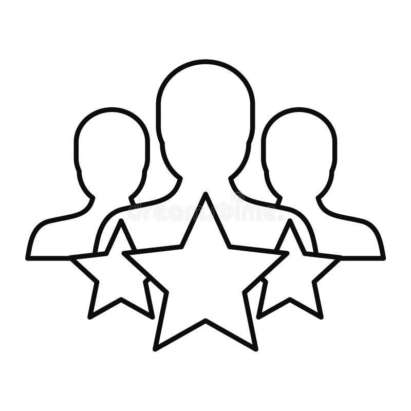 Ícone da retenção do cliente da estrela, estilo do esboço ilustração royalty free
