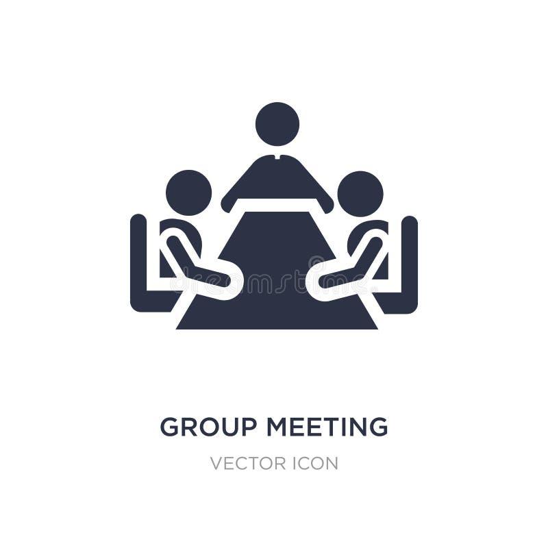 ícone da reunião de grupo no fundo branco Ilustração simples do elemento do conceito dos povos ilustração stock