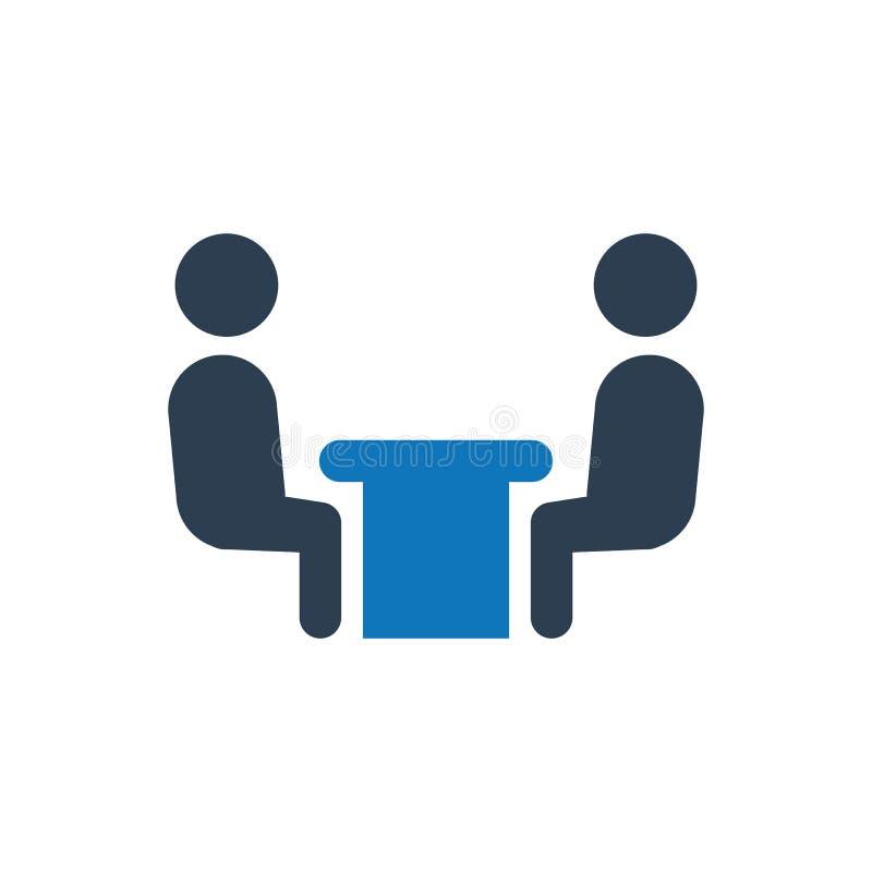 Ícone da reunião de negócios ilustração do vetor