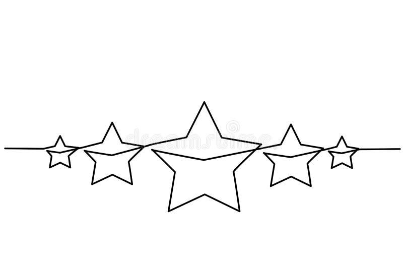 Ícone da revisão da avaliação de produto do cliente de cinco estrelas ilustração royalty free