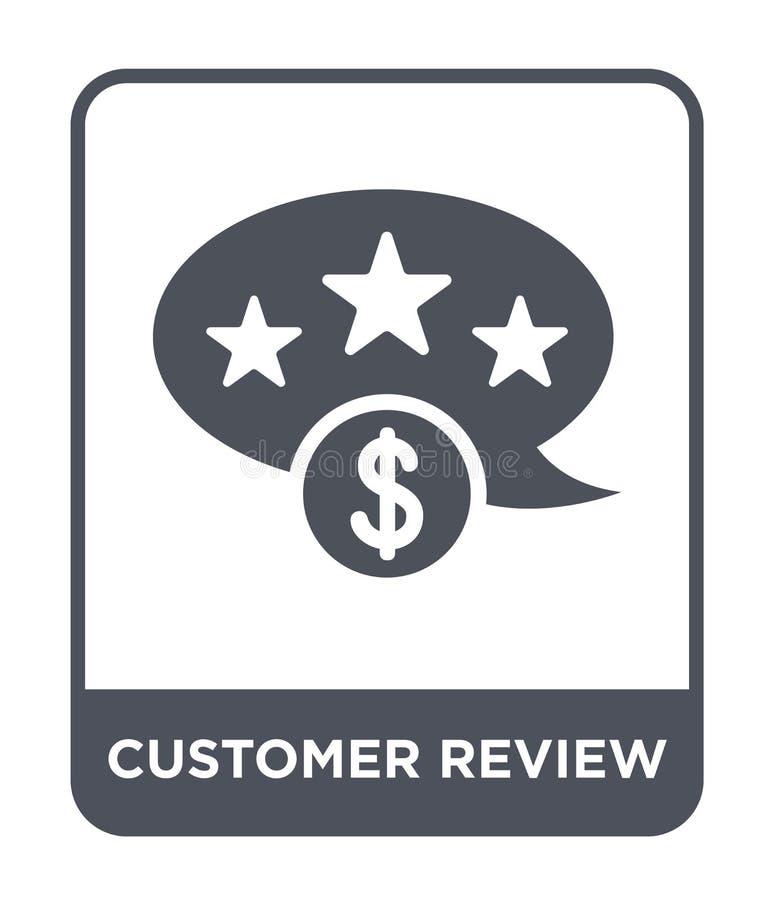 ícone da revisão do cliente no estilo na moda do projeto ícone da revisão do cliente isolado no fundo branco ícone do vetor da re ilustração do vetor