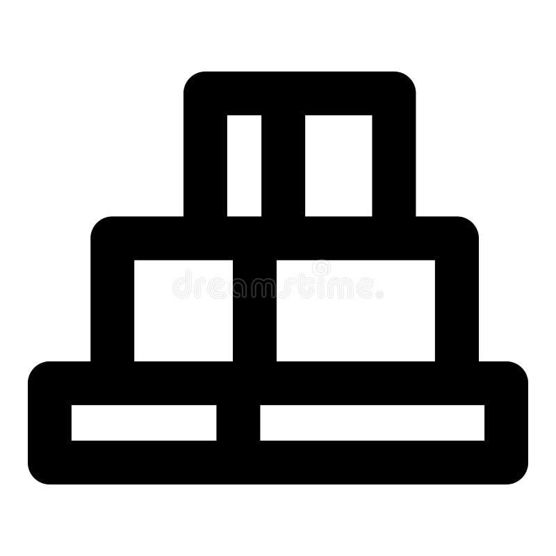 Ícone da rocha da garganta, estilo do esboço ilustração stock