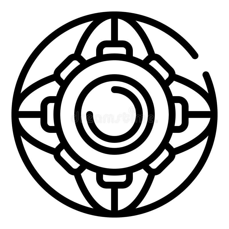 Ícone da roda de engrenagem, estilo do esboço ilustração royalty free