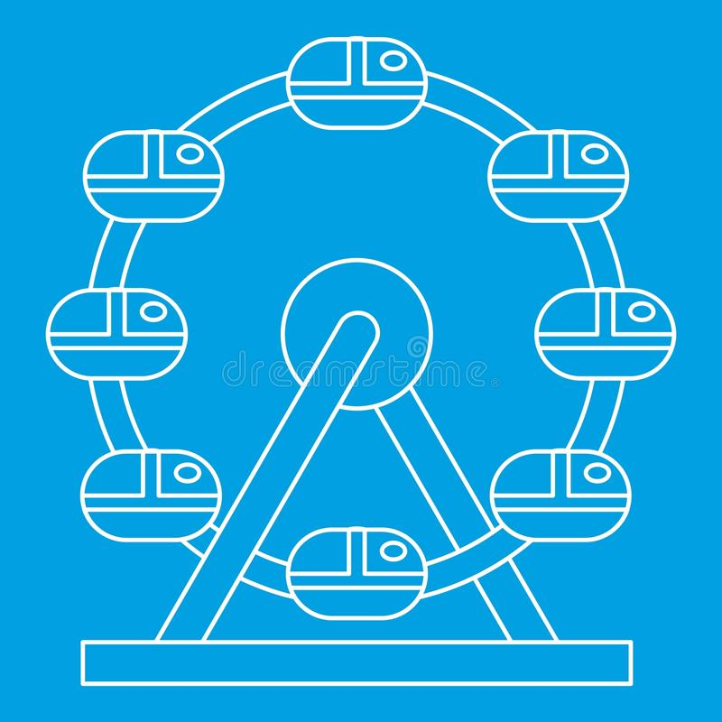 Ícone da roda de Ferris, estilo do esboço ilustração stock