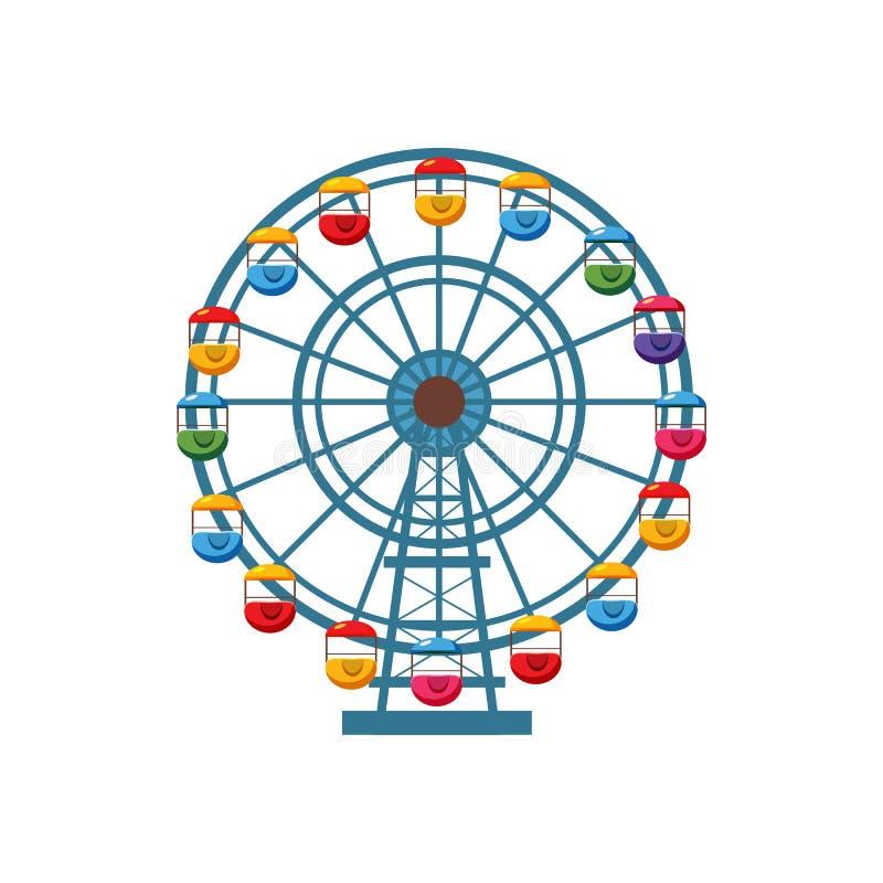 Ícone da roda de Ferris, estilo dos desenhos animados ilustração stock