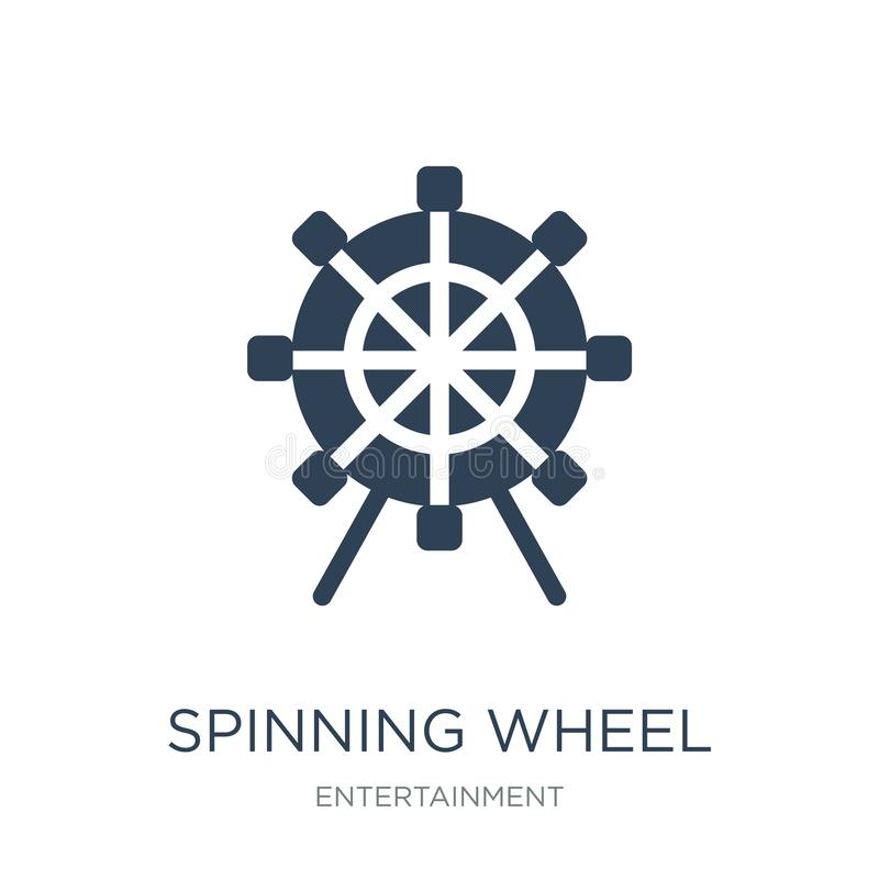 ícone da roda de gerencio no estilo na moda do projeto ícone da roda de gerencio isolado no fundo branco ícone do vetor da roda d ilustração stock