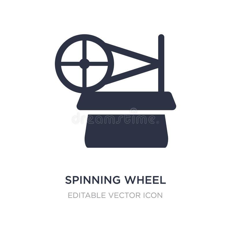 ícone da roda de gerencio no fundo branco Ilustração simples do elemento do conceito do entretenimento ilustração royalty free