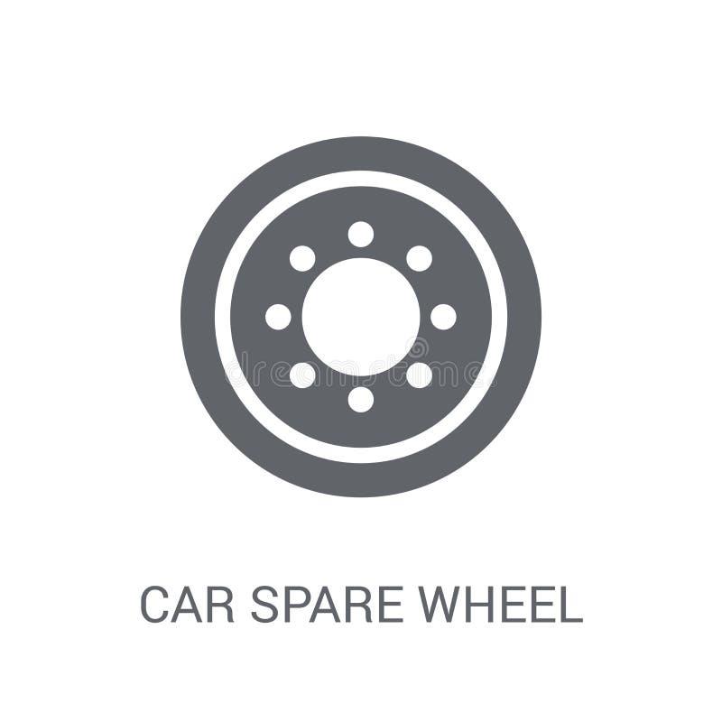 ícone da roda de reposição do carro  ilustração stock