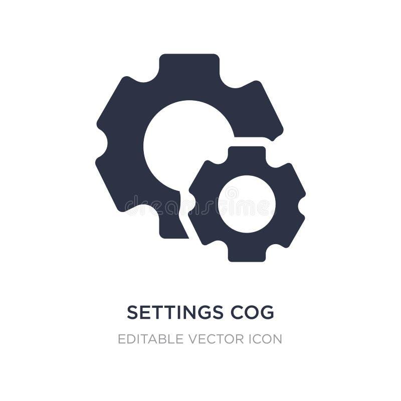 ícone da roda denteada dos ajustes no fundo branco Ilustração simples do elemento do conceito de UI ilustração stock