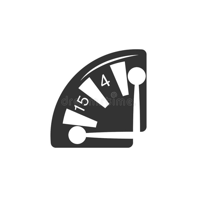 Ícone da roleta Elemento do ícone do aeroporto para apps móveis do conceito e da Web O ícone detalhado da roleta pode ser usado p ilustração stock