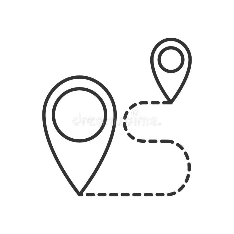 Ícone da rota ou linha estilo do logotipo da arte ilustração do vetor