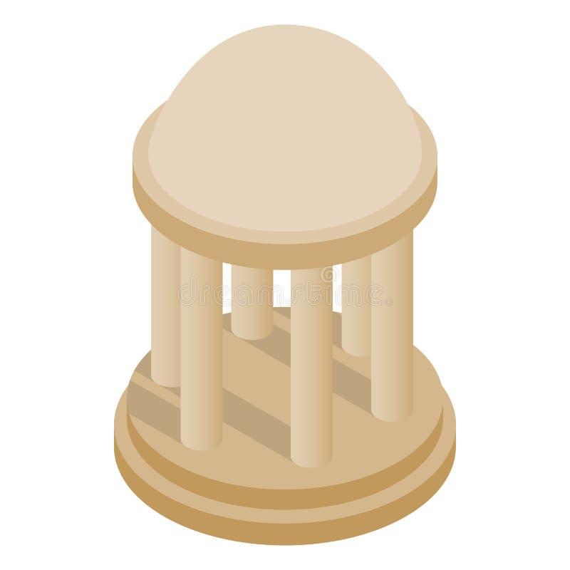 Ícone da rotunda, estilo 3d isométrico ilustração stock