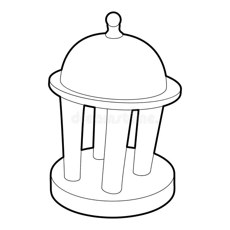 Ícone da rotunda, estilo do esboço ilustração do vetor