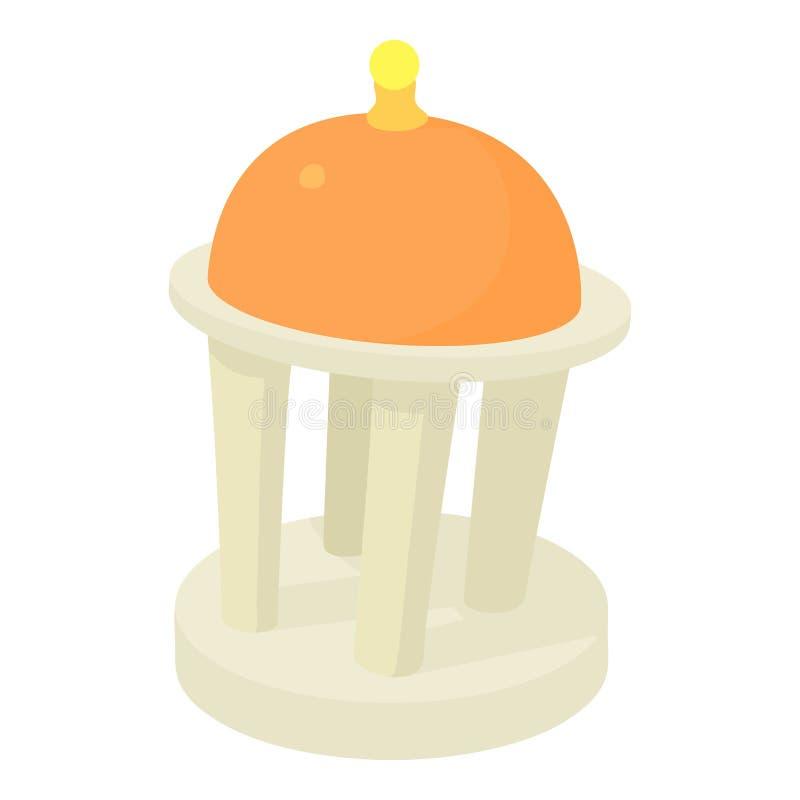 Ícone da rotunda, estilo dos desenhos animados ilustração stock
