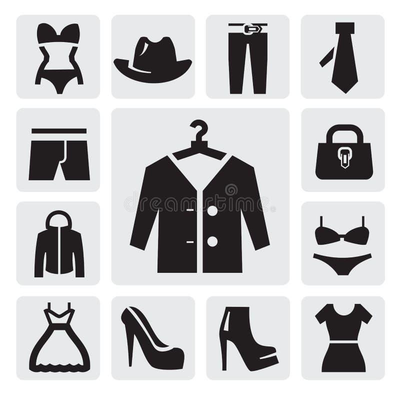 Ícone da roupa ilustração do vetor