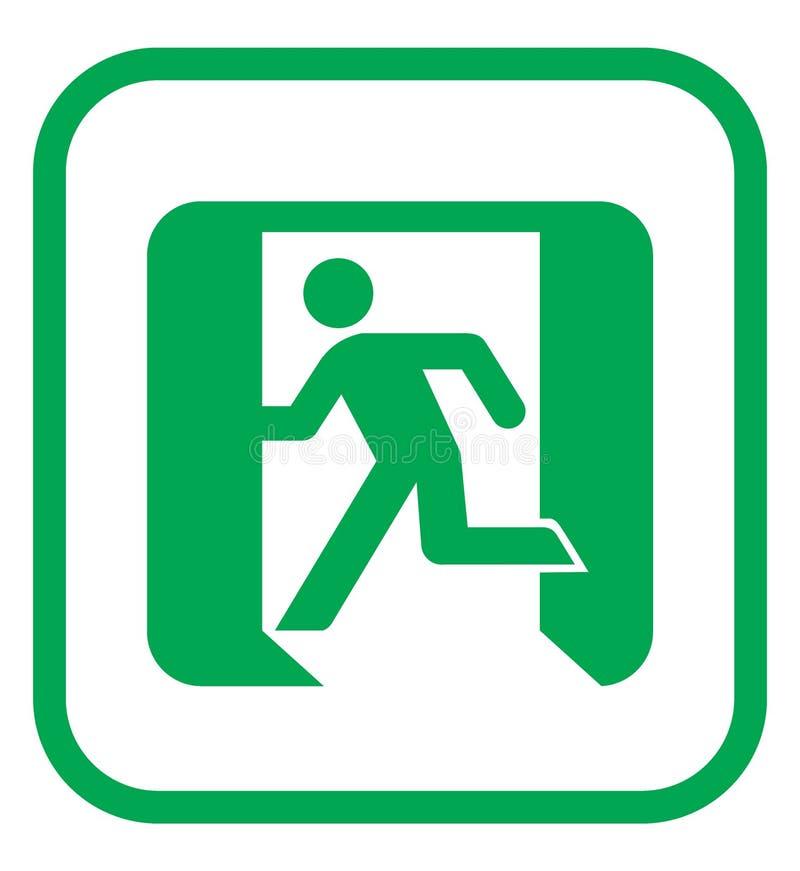 Ícone da saída de emergência ilustração royalty free
