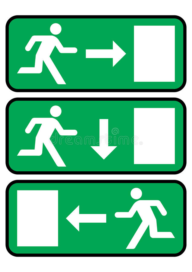 Ícone da saída de emergência ilustração do vetor