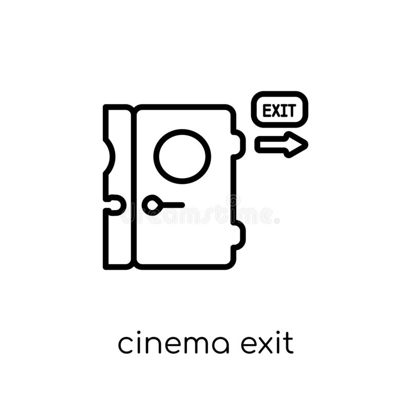 Ícone da saída do cinema Saída linear lisa moderna na moda i do cinema do vetor ilustração do vetor