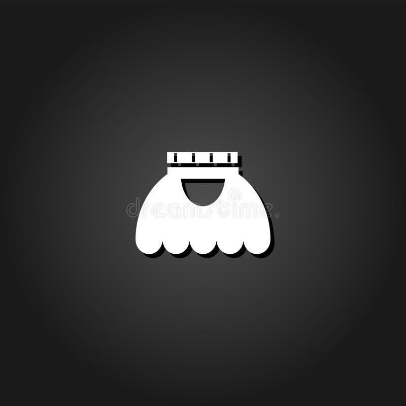 Ícone da saia liso ilustração stock