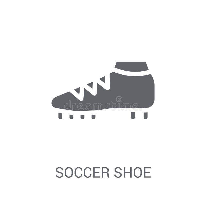 Ícone da sapata do futebol  ilustração do vetor