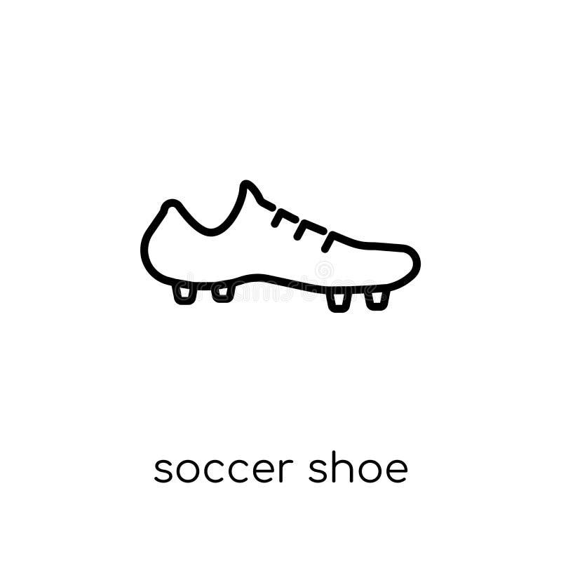 Ícone da sapata do futebol da coleção da roupa ilustração royalty free