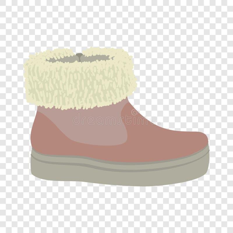 Ícone da sapata da mulher do inverno, estilo liso ilustração royalty free