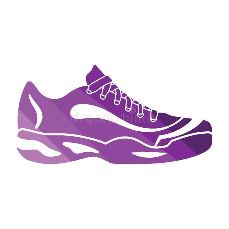 Ícone da sapatilha do tênis ilustração do vetor