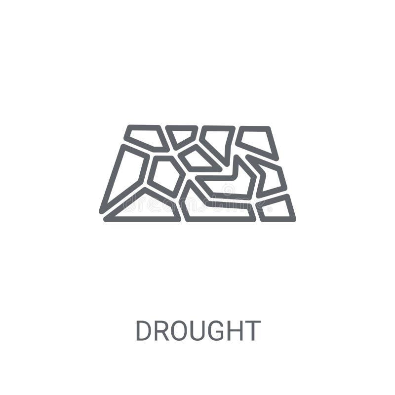 Ícone da seca Conceito na moda do logotipo da seca no fundo branco franco ilustração stock