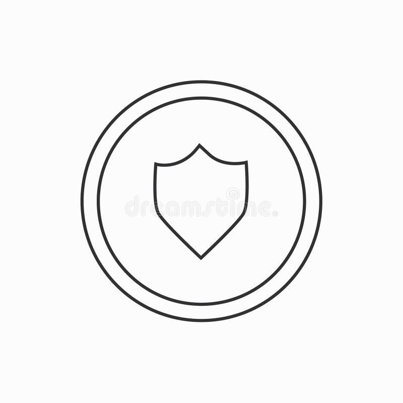 Ícone da segurança ilustração royalty free