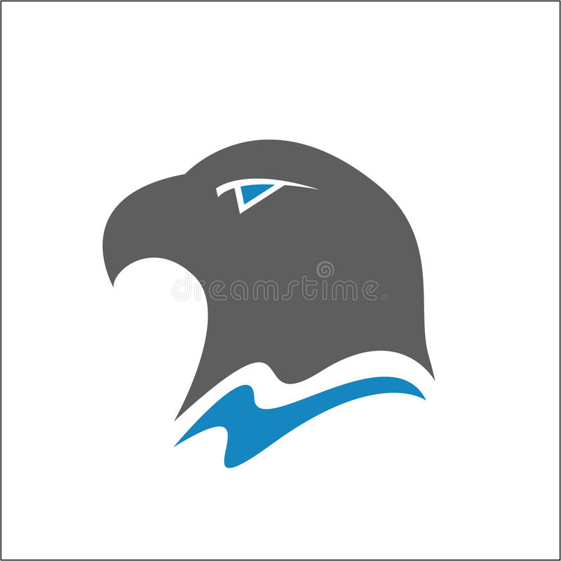 Ícone da segurança da águia calva ilustração stock