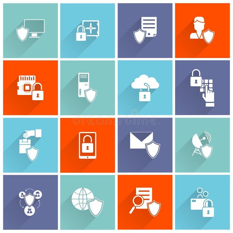 Ícone da segurança da informação liso ilustração stock