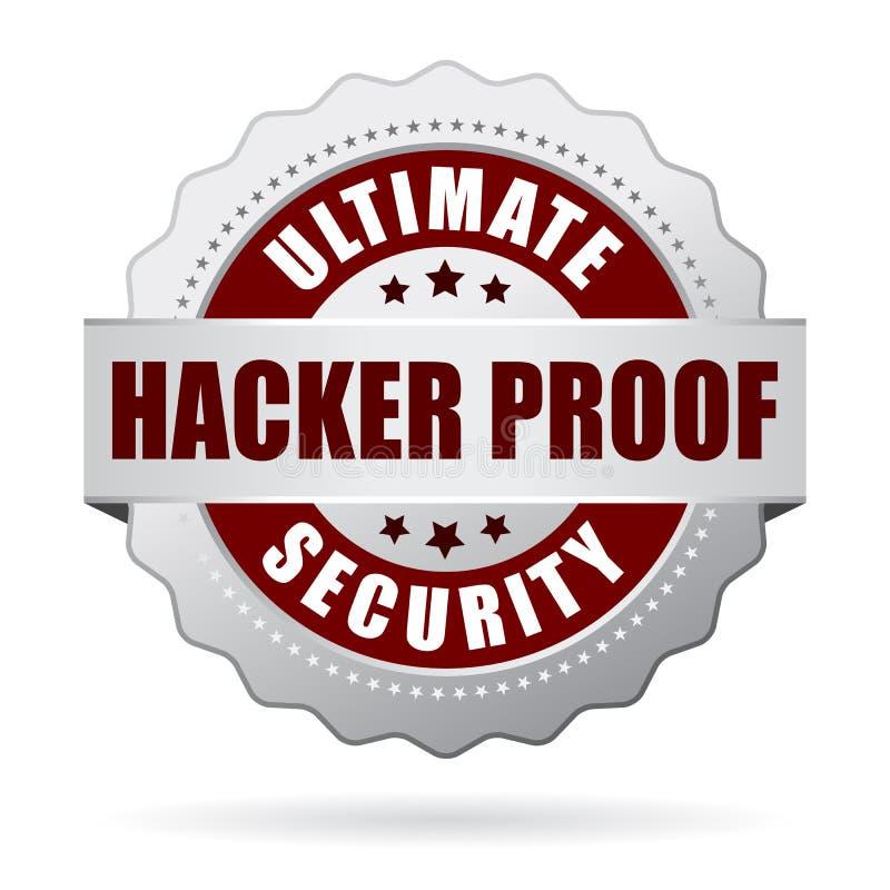 Ícone da segurança da prova do hacker ilustração do vetor