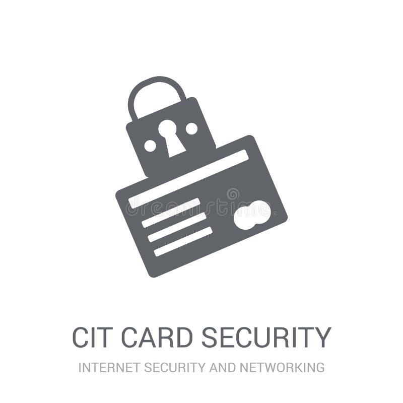 Ícone da segurança do cartão de crédito  ilustração royalty free