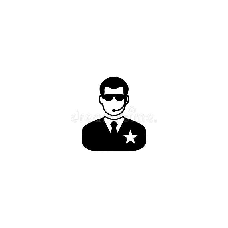 Ícone da segurança do clube noturno Ícone do clube noturno Elemento do lugar do ícone do entretenimento Projeto gráfico da qualid ilustração royalty free