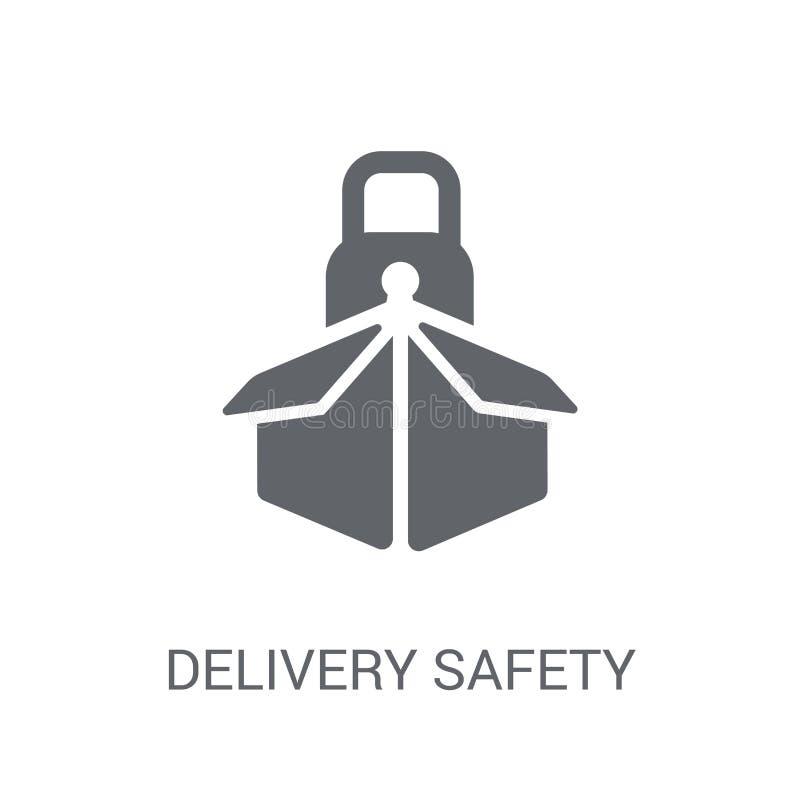 ícone da segurança da entrega  ilustração stock