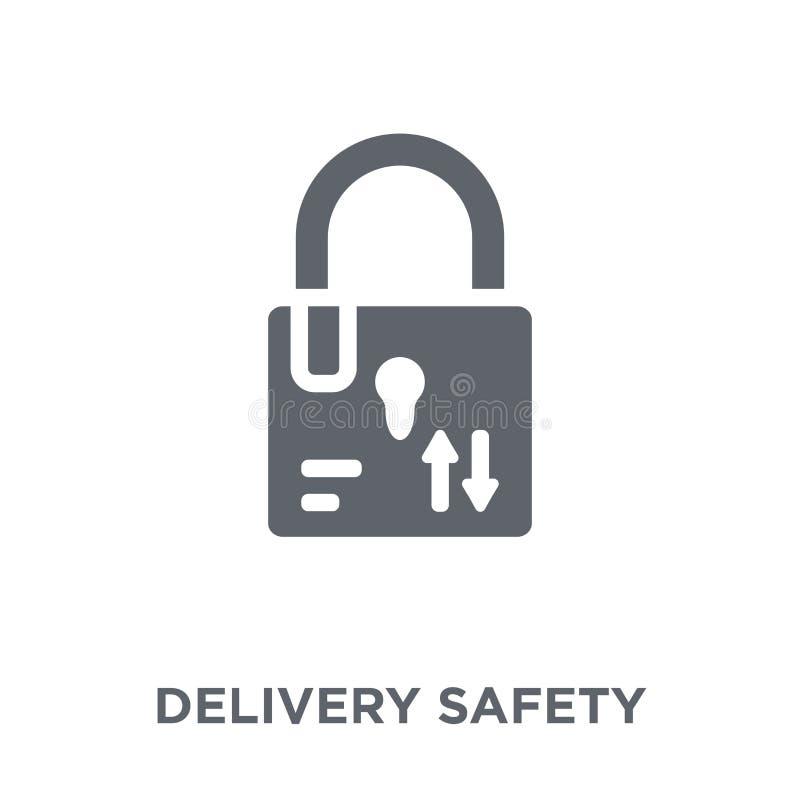 ícone da segurança da entrega da entrega e da coleção logística ilustração royalty free