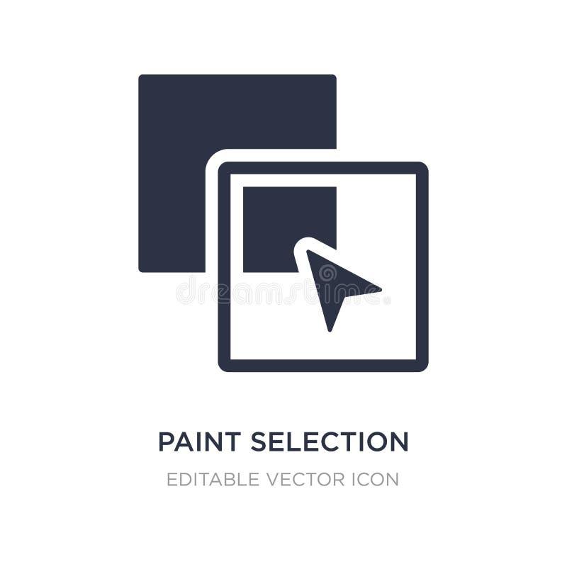 ícone da seleção da pintura no fundo branco Ilustração simples do elemento do conceito das formas ilustração royalty free