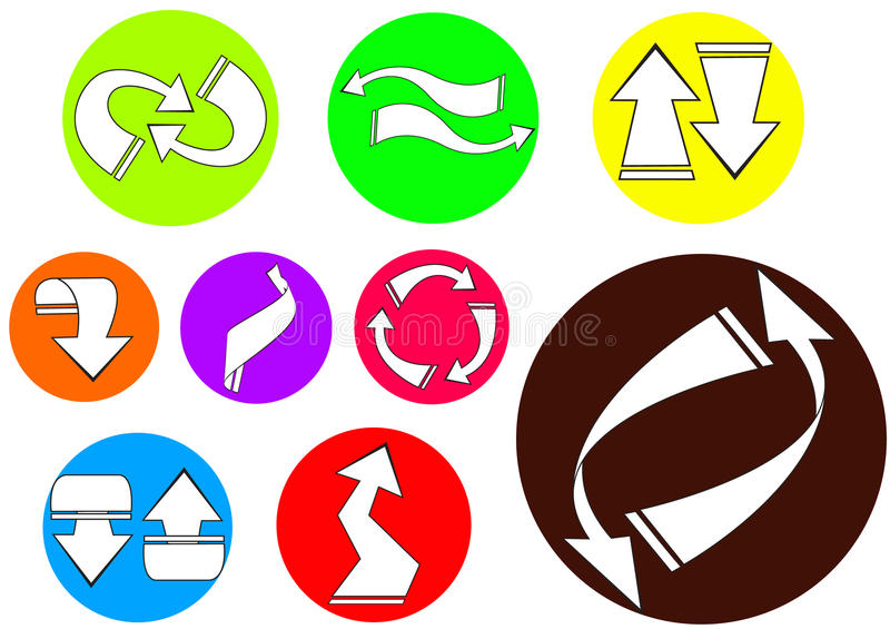 ícone 02 da seta imagem de stock