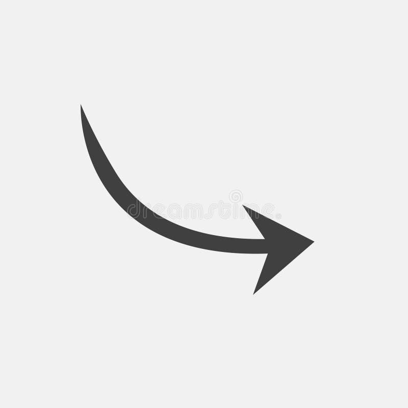 ícone da seta da curva ilustração stock