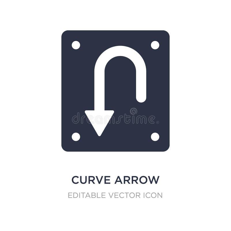 ícone da seta da curva no fundo branco Ilustração simples do elemento do conceito de UI ilustração royalty free