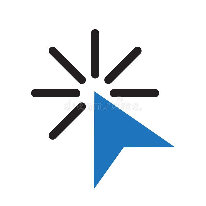 Ícone da seta do clique, vetor de clique do ícone do cursor ilustração do vetor