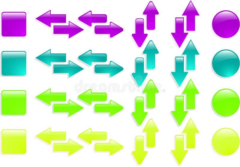 Ícone da seta do Web ilustração do vetor