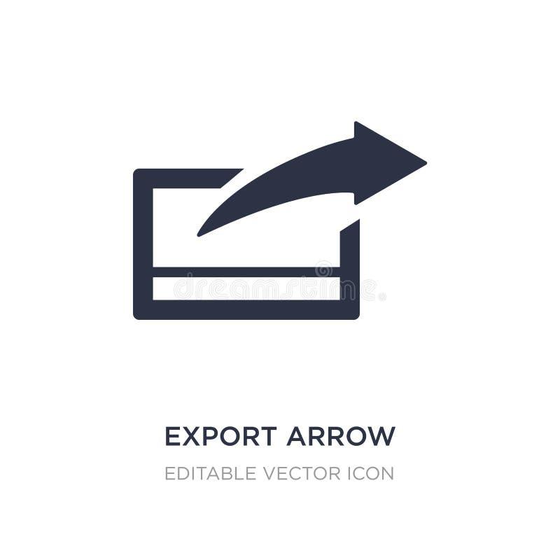 ícone da seta da exportação no fundo branco Ilustração simples do elemento do conceito de UI ilustração royalty free