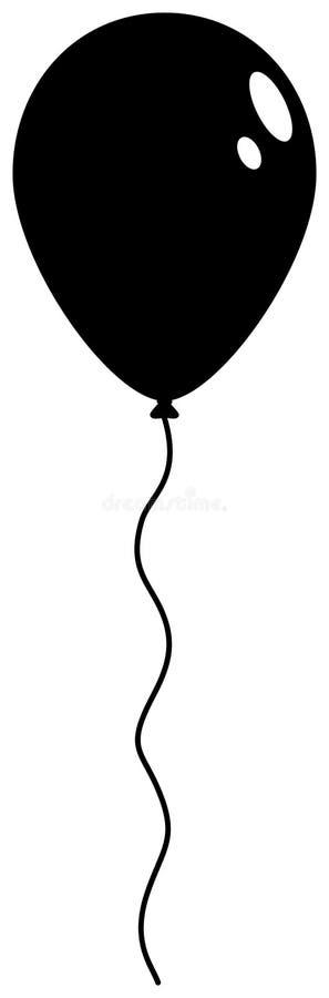 Ícone da silhueta do balão ilustração stock