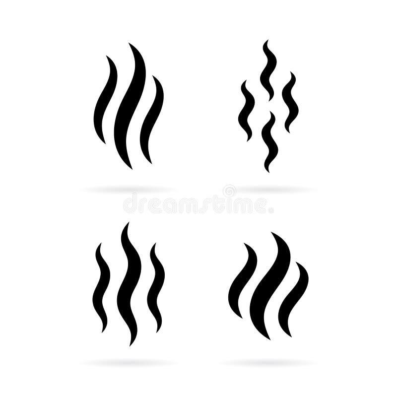 Ícone da silhueta do vapor do fumo ilustração do vetor